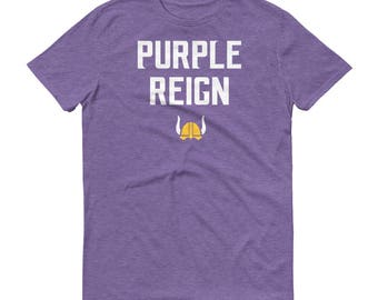 Purple Reign Minnesota Vikings Football Fan Miracle Skol Mens/Unisex Short-Sleeve T-Shirt