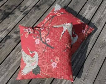 Asian Red cushion 50 x 50 cm