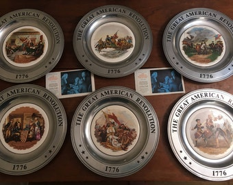 Bicentennial Plate-The Great American Revolution 1776- Pewter Plate