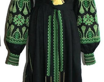 Caftan Dress Kaftan Abaya Long embroidered Dresses Bohemian Clothes Ethnic Ukrainian Embroidery Vyshyvanka Custom Boho Vishivanka