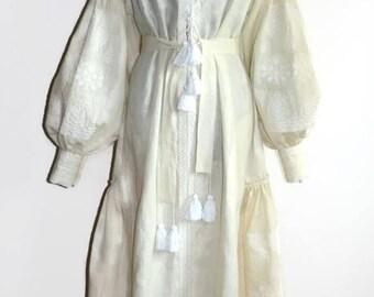 Bohemian Clothing Vishivanka Vyshyvanka Dress Boho Ukrainian Dresses Ethnic Ukrainian Embroidery Chic Nationale Linen Boho Dress Embroidered