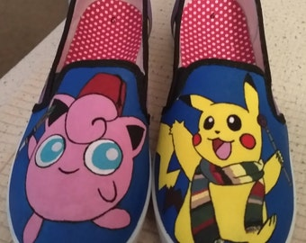 Pokémon Dr. Who Inspired Fan Art Mash Up Shoes