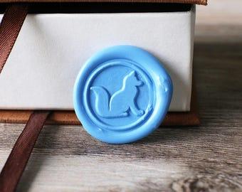 Fox wax seal stamp kit, woodland animal seal, wedding envelope seal,party wax seal stamp set