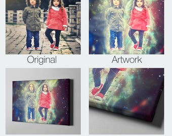 Beautiful Canvas Art from Your Photo Handmade - The perfect custom gift for your Family, Wedding Gift, Children or your loved ones