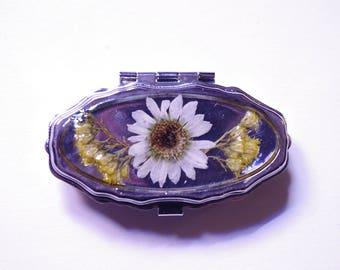 Small Portable Pill Box- 2 Compartment