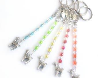 llama keyring, llama gifts, alpaca gifts, llama jewelry, alpaca keychain, llama accessories, beaded keyring, cute keyrings, animal keyring,
