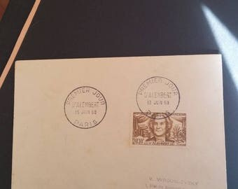 postmarked first day of d'Alembert