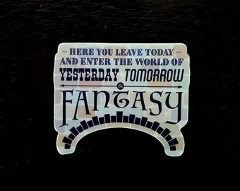 Yesterday, Tomorrow & Fantasy | vinyl sticker