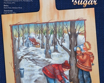 Spring time of maple sugar-epattern