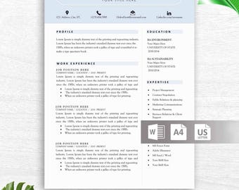 Nurse Resume Template for Word, Nurse CV, Doctor Resume, Doctor CV, Medical Resume, Medical CV, Instant Download Resume Template