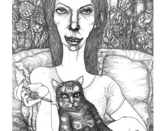 high quality print on canvas: the psychopath