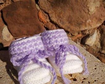 """Booties 3 """"lavender"""""""