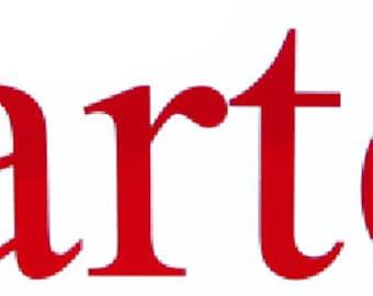 Block Font NAME Decal Sticker