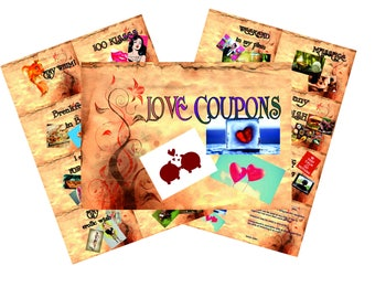 Valentine coupon book love coupons gift for him last minute gift printable gift valentines gift instant download
