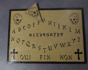 ouija board wooden skull Gothic cross spiritualism esoteric occult ouija board skull