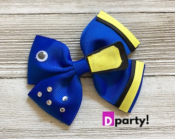Finding Dory Hair Bow, Finding Dory Birthday, Dory Hairbow, Disney Hair Bow, Dory Outfit, Finding Nemo