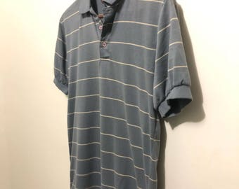 Vintage Stripped Polo / Retro Design / T shirt