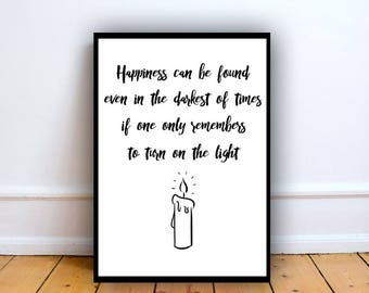 Inspirational Quote print A3,  Book lover gift, quote decor, party decoration, inspirational quotes, fan art sign