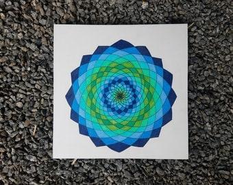 Fibbonaci Spiral Mandala drawing 2015- mandala- fibbonaci art- illustration