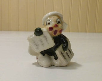 Collectible 1940s Occupied Japan Ceramic Figurine Ladybug Newspaper Boy Collectable