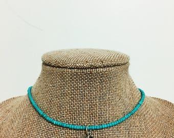 Mint Seed Bead Choker , mint choker, seed bead choker, glass bead choker, dainty, delicate, simple, choker, choker necklace