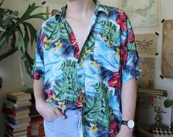 Rad Hawaiian Button Up Shirt