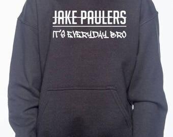 Jake Paul Its Everyday Bro  adult hoodie. Jake Paul Merch