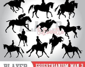 Equestrianism Men SVG, Equestrianism Sport svg, Equestrianism digital clipart, athlete silhouette, Equestrianism Men, cut file, Horse, A-033
