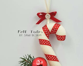 Christmas decorations candy Cane polka Dot