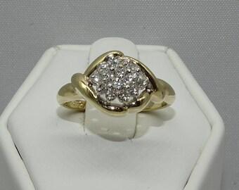 14K Diamond Ring . Diamond 0.22ct