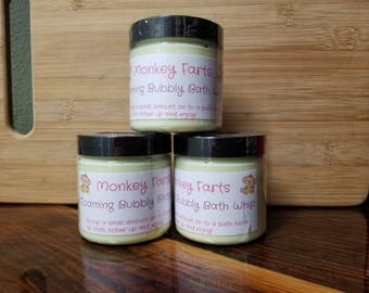 Monkey Farts Foaming bath whip with Shea butter