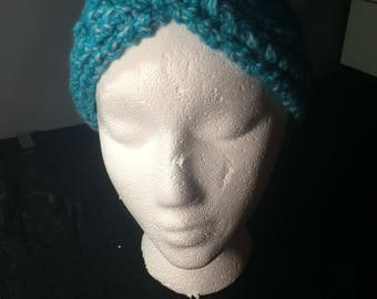 Cold Weather Headband Turquoise Multi