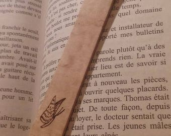Thin and lightweight, engraved wood bookmark personalized pyrography, handmade book, gift
