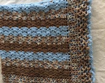 Crocheted Little Boy Baby Blanket