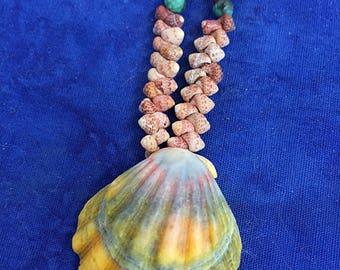 Kauai Kahelelani and Sunrise Shell Necklace