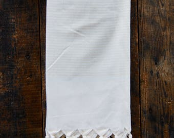Stripy   Linen   Turkish Towel   Beige   Hammam Towel   Peshtemal   Bathroom Decor   Beach Towel   Sarong   Fig Tree Copenhagen