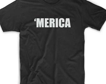 Merica T Shirt Custom Murca America Pride Redneck Geek Nerd Gamer Funny Unique Fun USA  Tee Novelty Father Day Grandpa Gift Uncle Brother