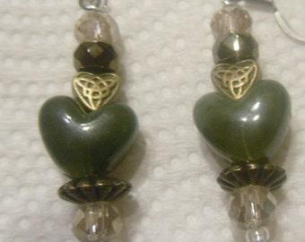 Hand Made Heart Earrings