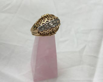 1950's Ring, Gold, Platinum and Diamonds