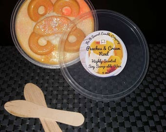 Peaches & Cream Noel 9 oz. Highly Scented Soy Scoop-able Wax