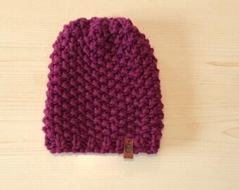 chunky wildberry  knit
