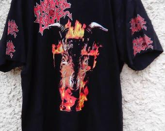 Morbid Angel - Goat on fire/Covenant vintage shirt (Death Metal, Deicide, Entombed, Napalm Death, Bolt Thrower)