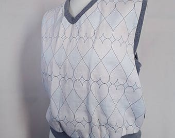 vest with heart print