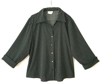 Vintage Black and white stripped Blouse