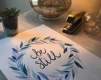 Be Still - Blue Leaves