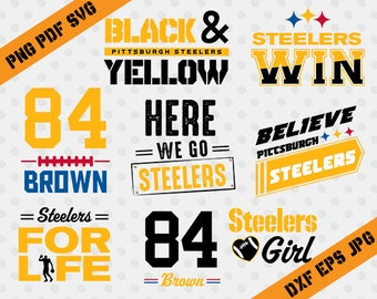 Pittsburgh Steelers,84 Brown football,team,cutting machines,T-shirt Design,Pittsburg steelers Silhouette,TT-024