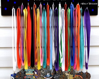 FAST SHIPPING Free Customizing Available   Running Medal Display Rack S4746 If you can dream it, Disney,Blue Stars