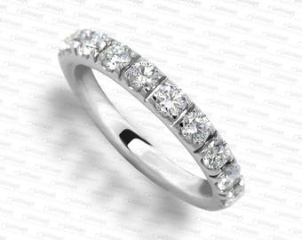 10 Diamonds 14 karat White Gold Wedding Ring LR7085