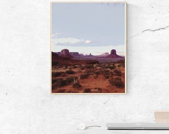 Desert Aesthetic, PDF Printable Download, Printable Wall Art