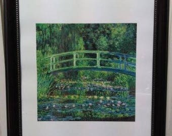 Framed Impressionist Print by Claude Monet Water Lily 1889 11 in. x 14 in.